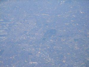 堺市をヘリコプターから撮ったものです。