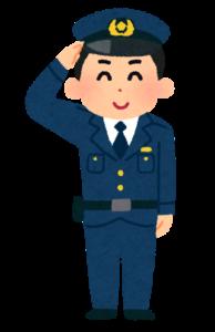大阪の防犯の為に活躍する警察官