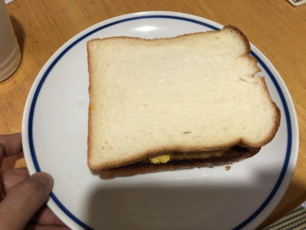 チーズエッグトーストの完成
