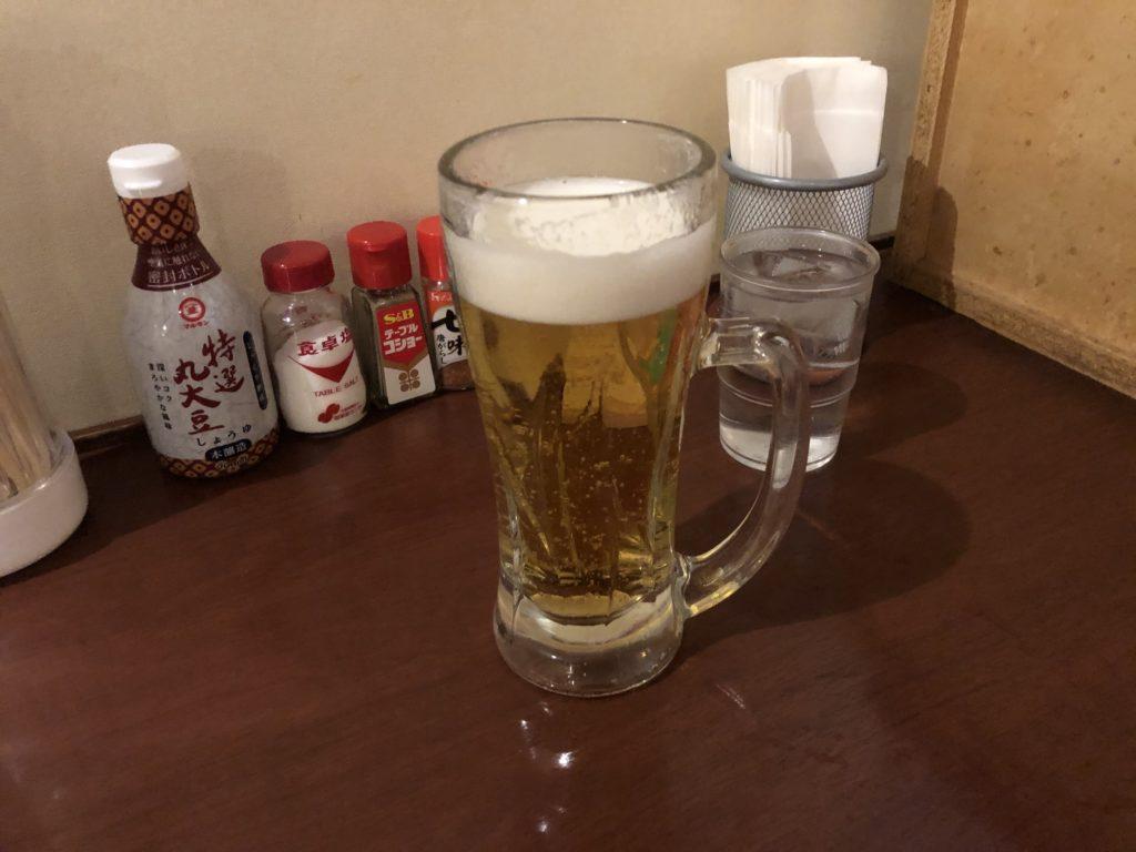 大阪のサウナ「アムザ」でビール